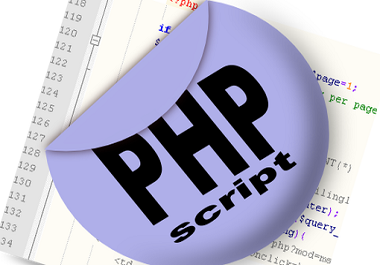 I will provide you any PHP scripts