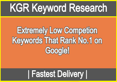 I will research KGR keywords to rank your website