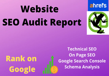 I will do a website audit, technical SEO for ranking