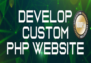 I will Design & Develop Full PHP Website
