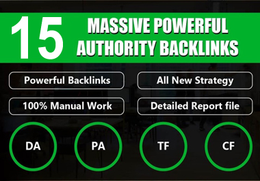i will create 15 unique domain SEO backlinks for your website