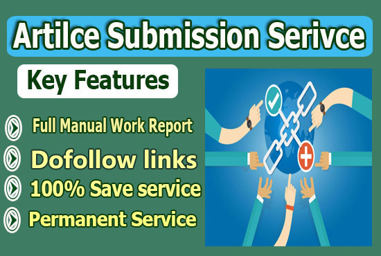 I will do article submission to 150 sites