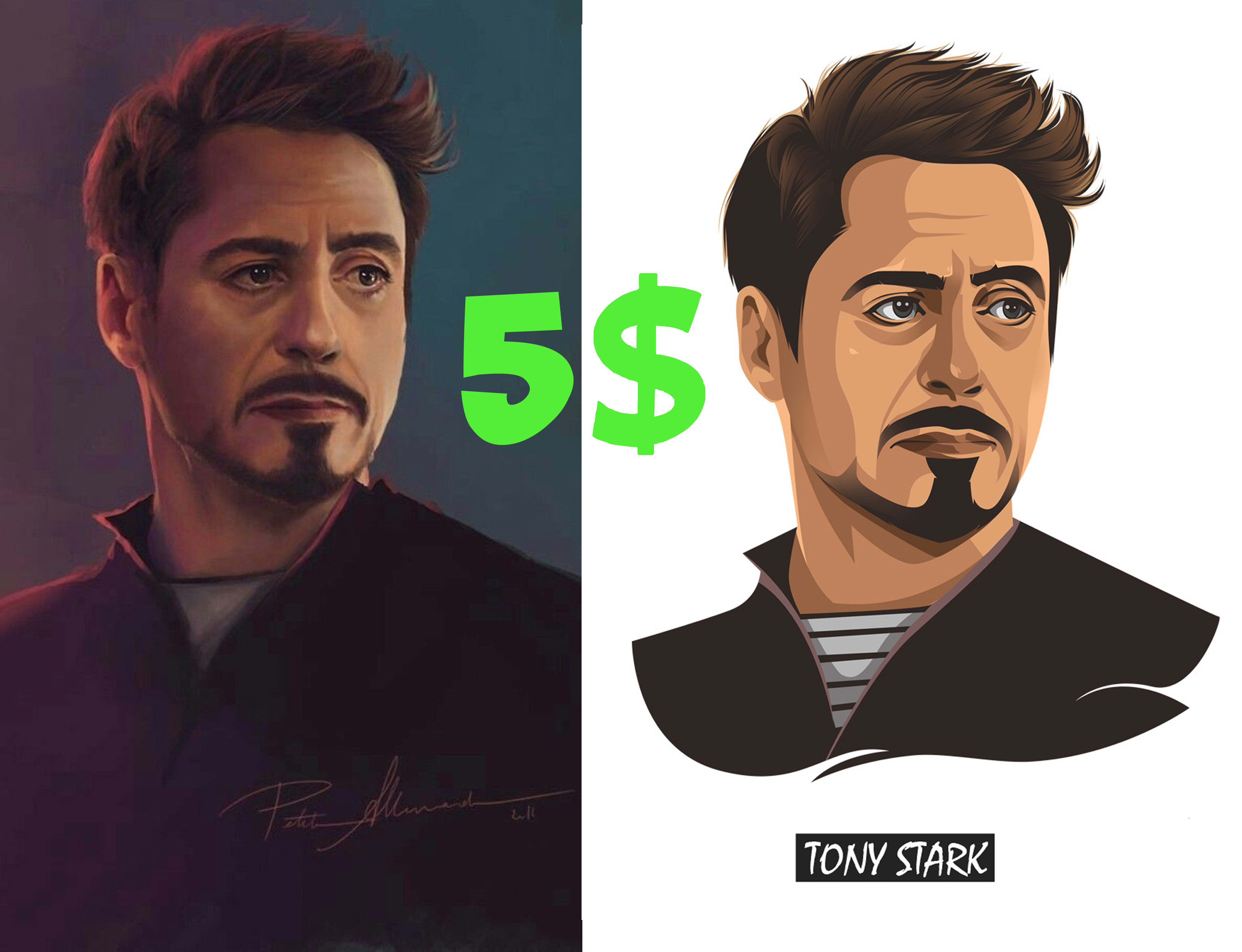 I will draw vector art from your image