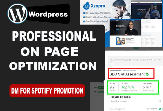 I will do wordpress yoast on page seo service for website rank
