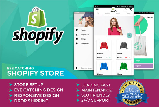 I will design shopify store, theme, template,  custom shopify website