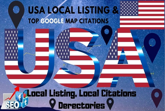 Top 100 yext local map citations and directory list with high DA PA