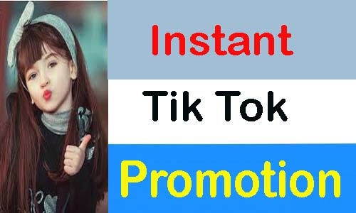 Instant High Quality Tik Tok Promotion.