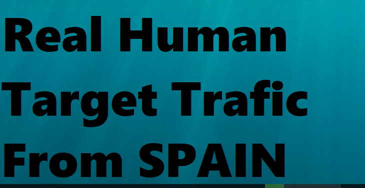 Real human traffic directed from Worldwide