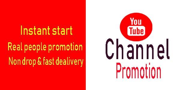 Any kind of Channel promotion super fast deliverer from Real visitor