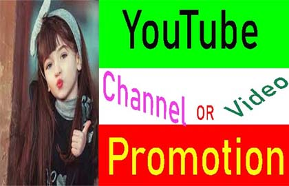 Manually YouTube Video & chanel Promotion from Real user.