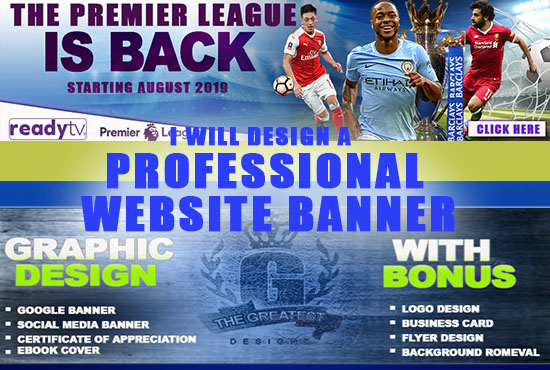 Customized Website banner and ads design