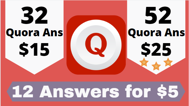 Niche targeted highly 12 Quora Answer for your site