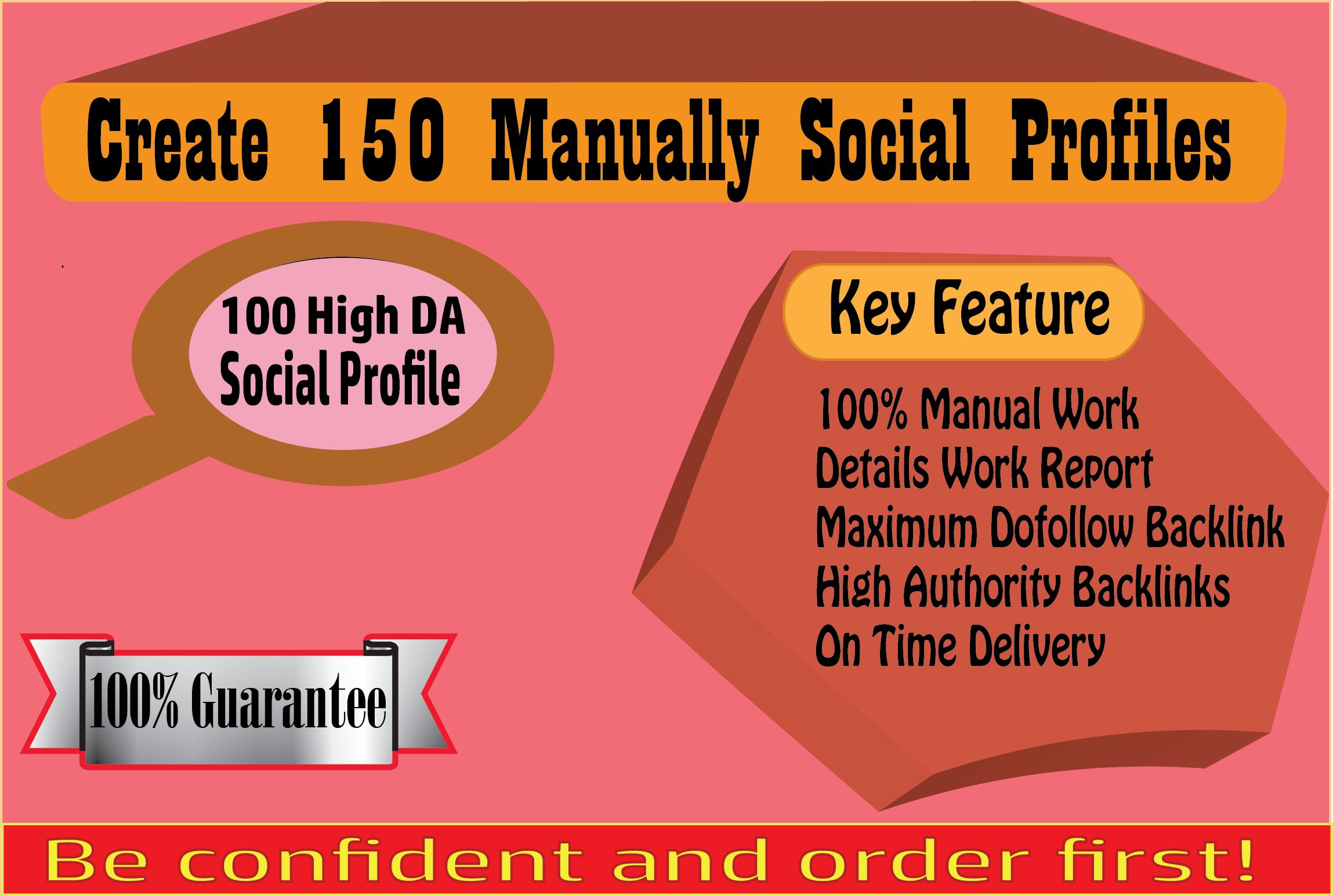 I Will Create 150 Manually Social Profiles