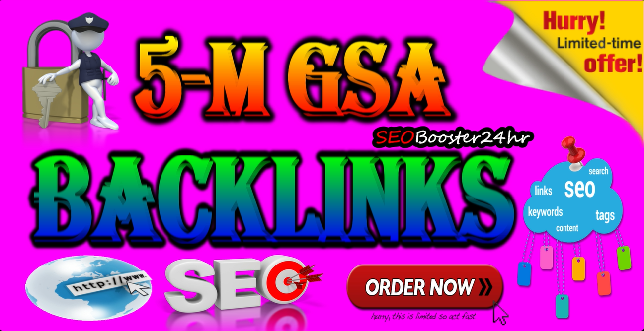 5 Millions Verified GSA Backlinks For Firster Rangking on Google