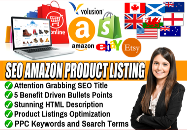 l'll do amazon listing optimization,  eBay listing and product description to improve your ranking