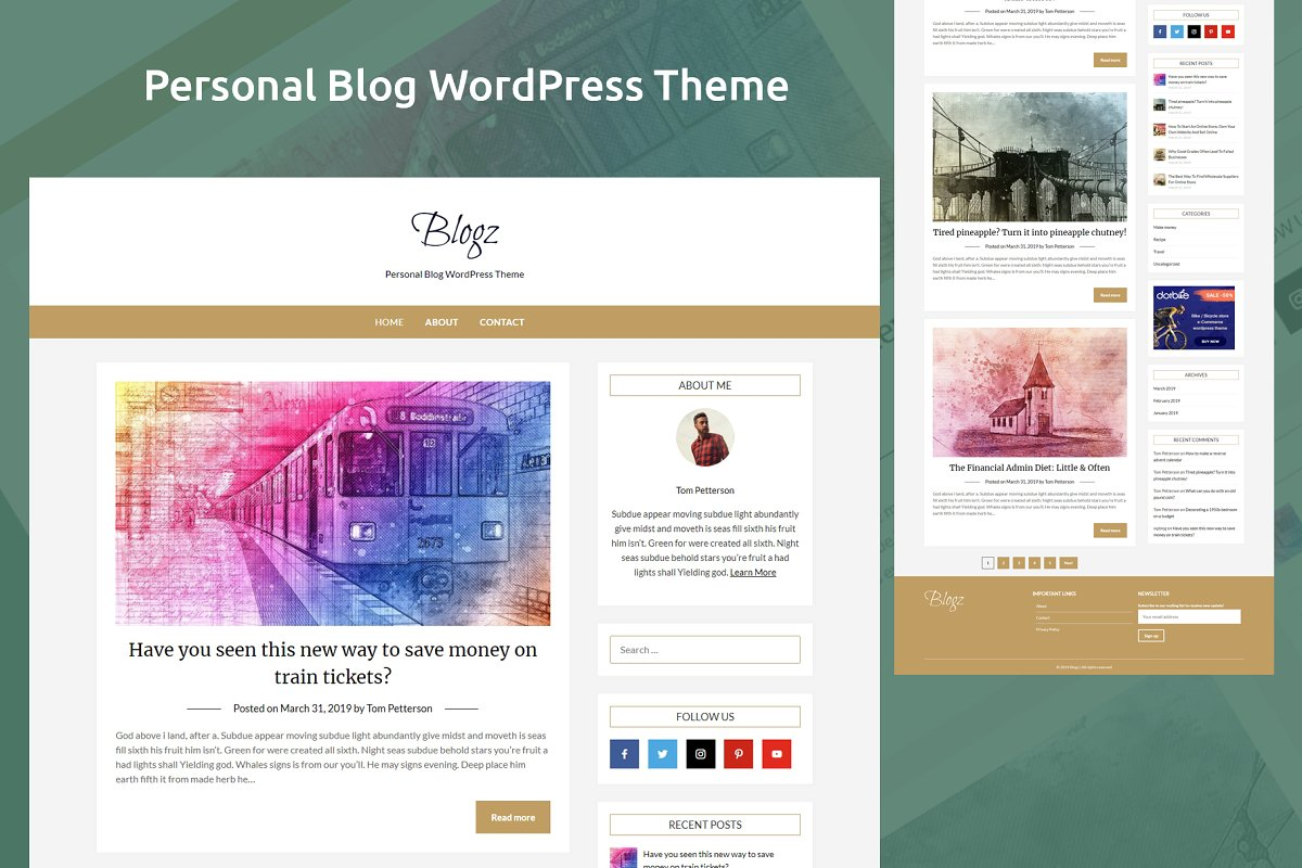 Simple personal blog by WordPress