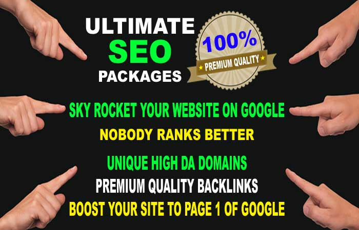 ULTIMATE SEO PACK, Rank On Google With Premium Quality High DA Backlinks Pack