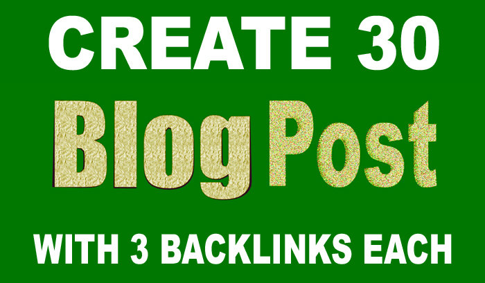 Manually Create 90 Contextual Backlinks in 30 Web 2.0 Blog Posts