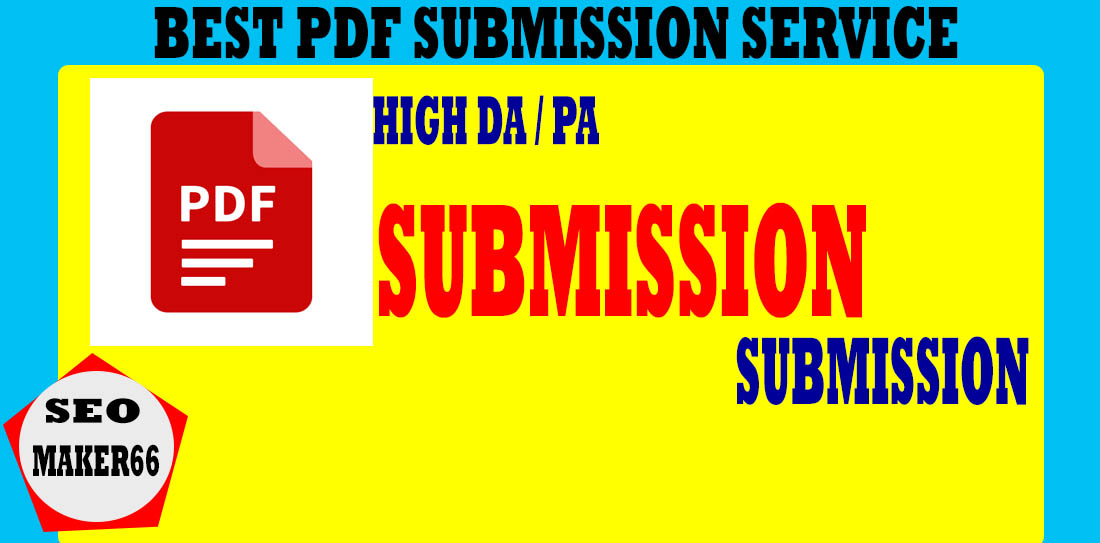 I will do manually PDF submission to Best PDF sharing sites
