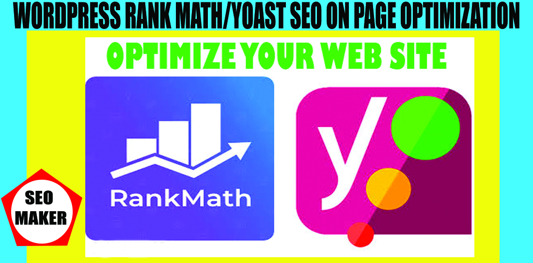 10 page I will do WordPress Rank Math/Yoast SEO on page optimization 2021