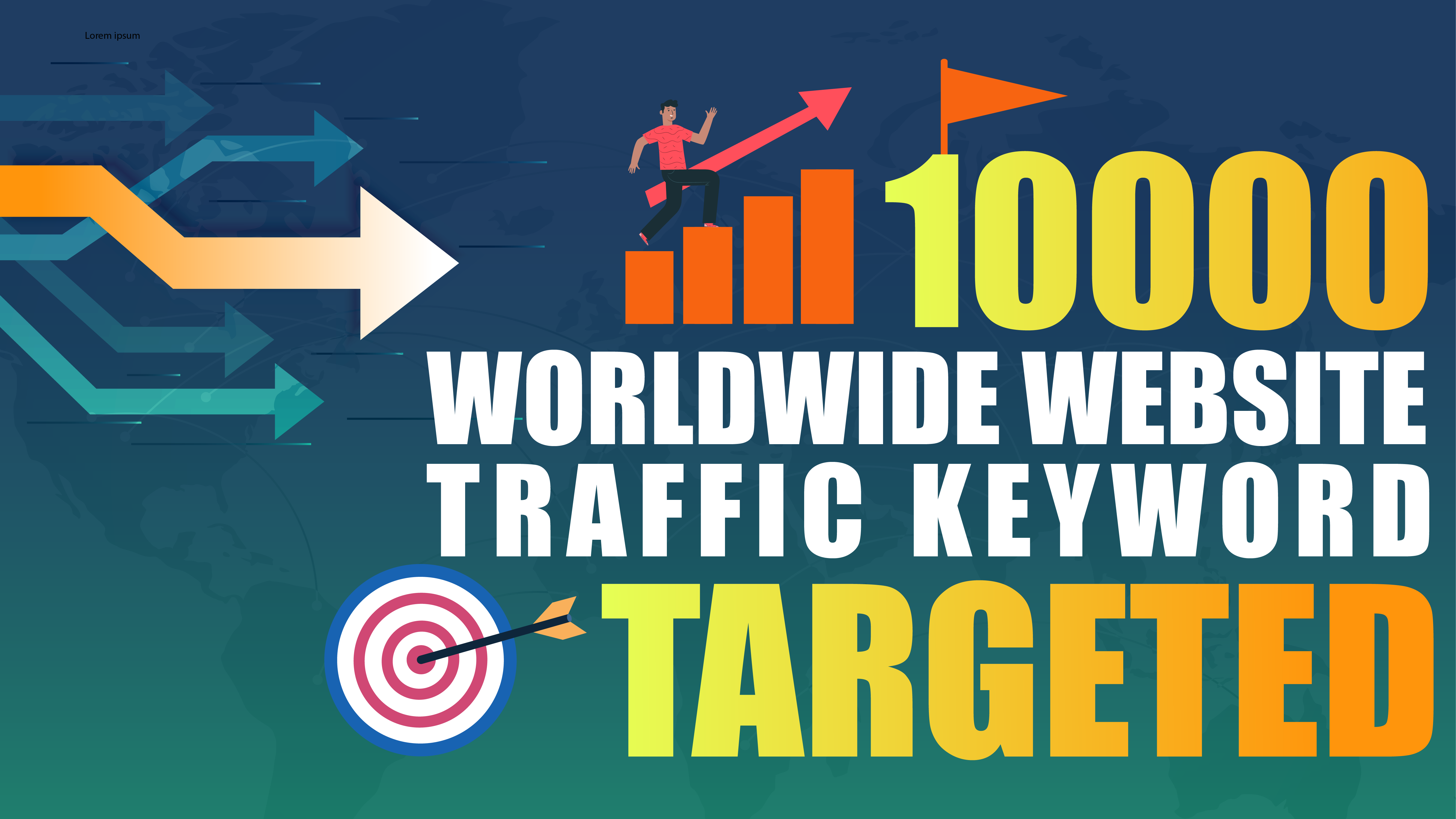 10.000 Worldwide visits to your Website - Keyword Targeted