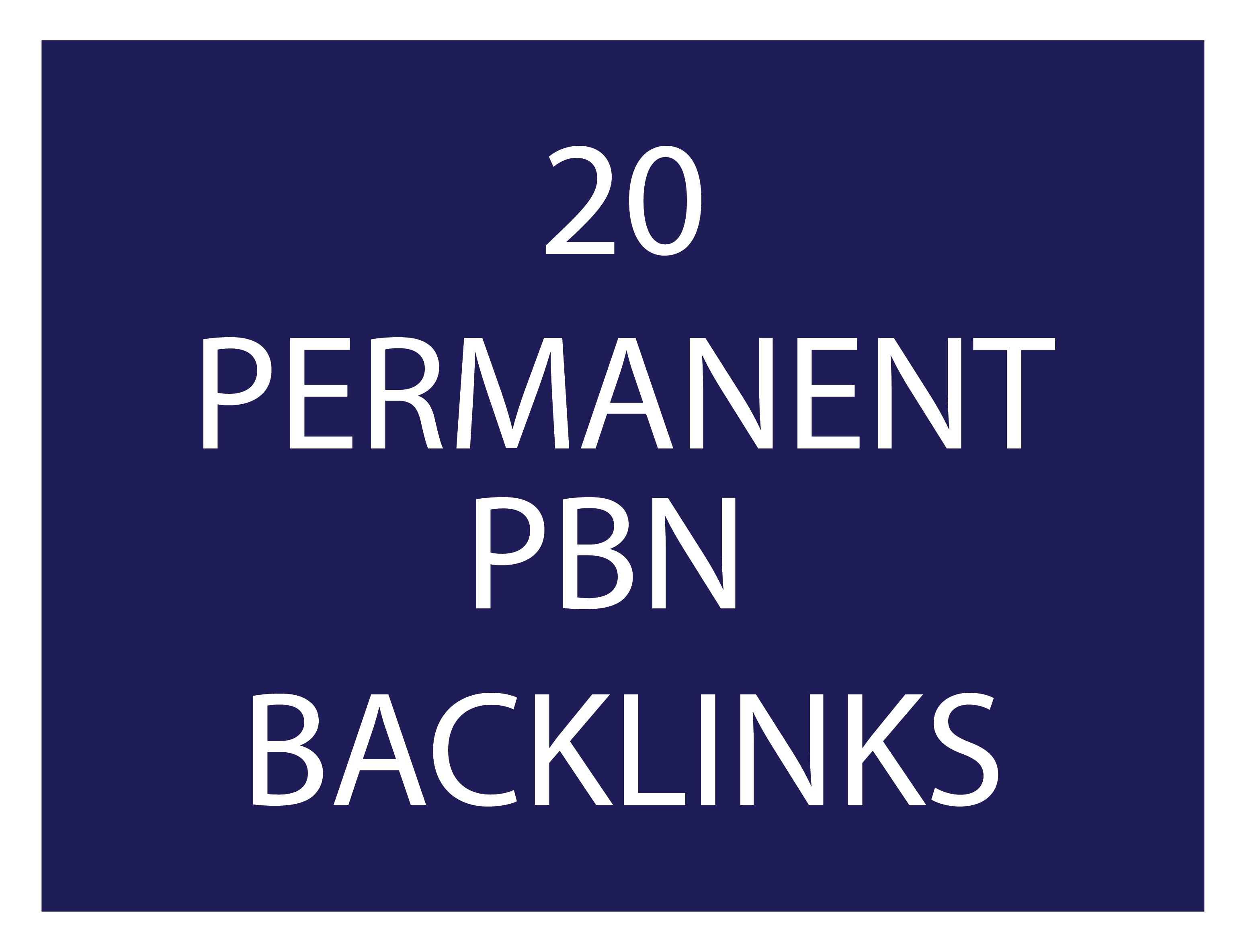 20 high trust flow permanent pbn backlinks high tf cf