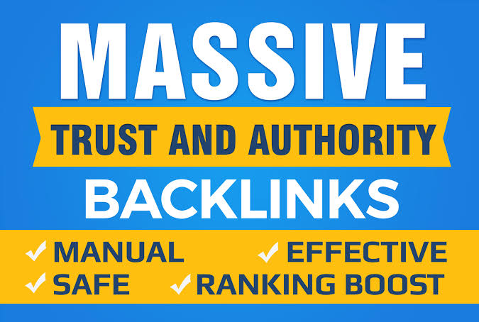 I will do google SEO with manual high authority backlinks and trust links