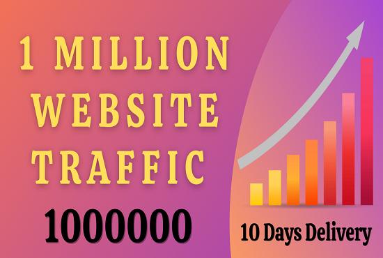 I will provide 1 Million 100,000 organic traffic send your website from social media
