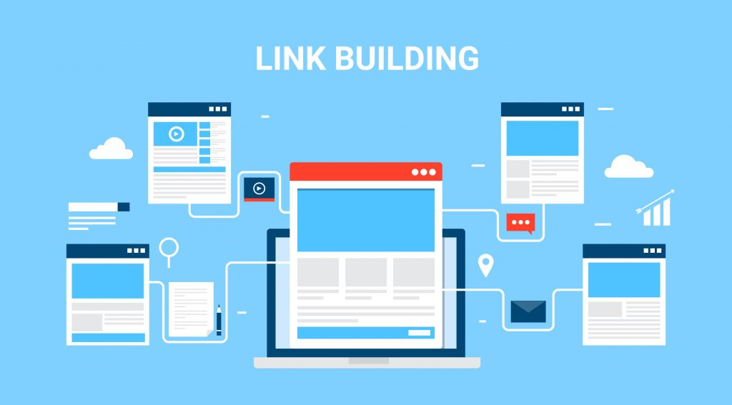 link building for your website to rank higher on google
