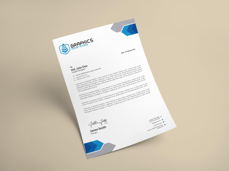 I can design a unique professional letterhead for company, business, brand