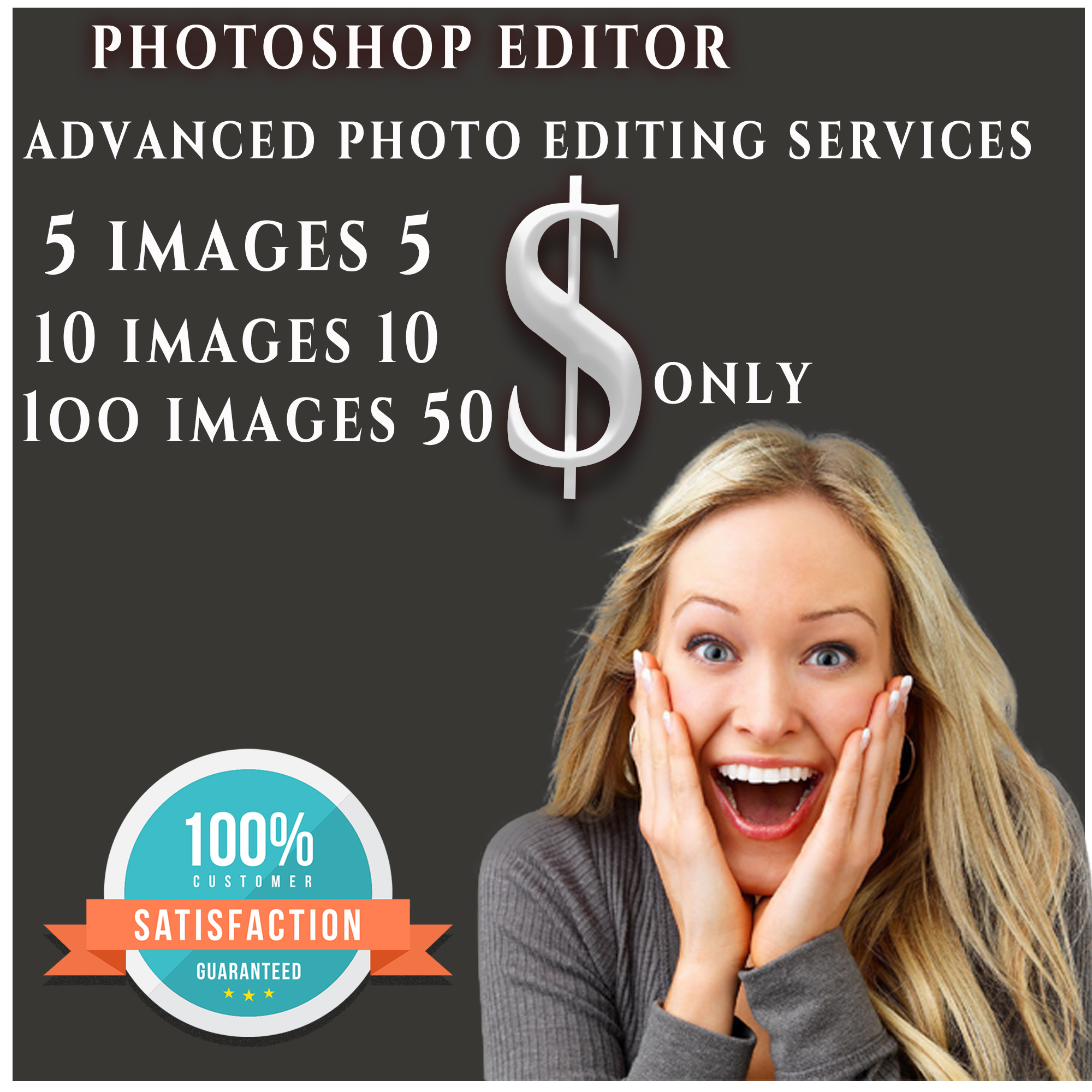 Photoshop expert, professional photo editor