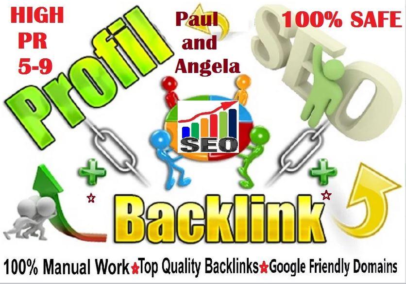 Latest Package,  60 High DA PA Quality Angela Paul Profile Backlinks