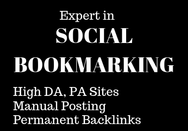 I will publish 50 bookmarking in high DA,  PA sites manually