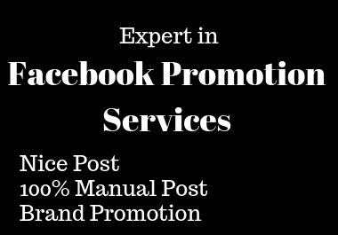 I will be your Facebook Marketer and Promote Your Product Link