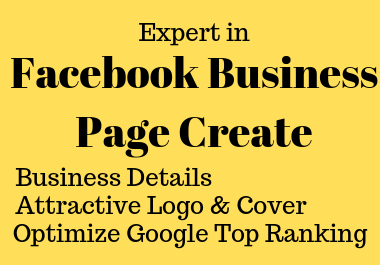 I will create and design an attractive Facebook business page