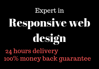 I will design a responsive WordPress website within 24 hours