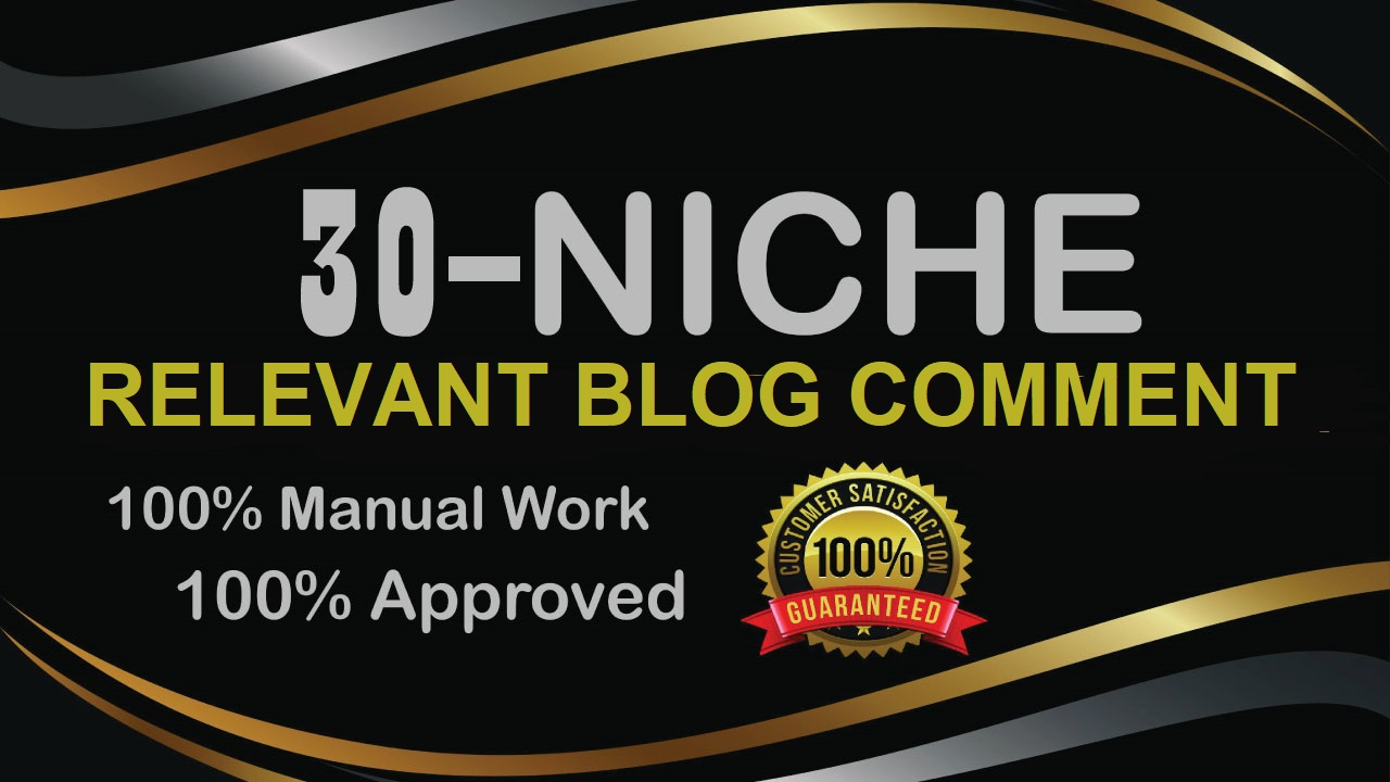 30 Niche Relevant Blog Comments