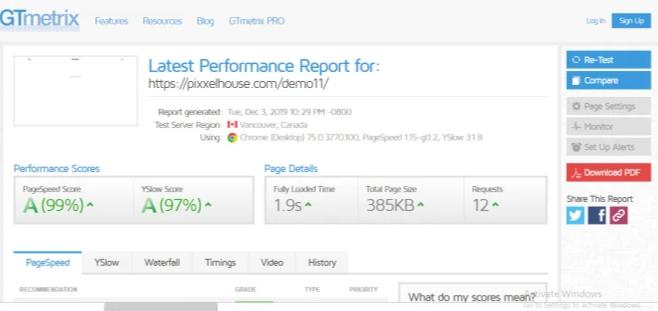 I will speed up your website in gtmetrix