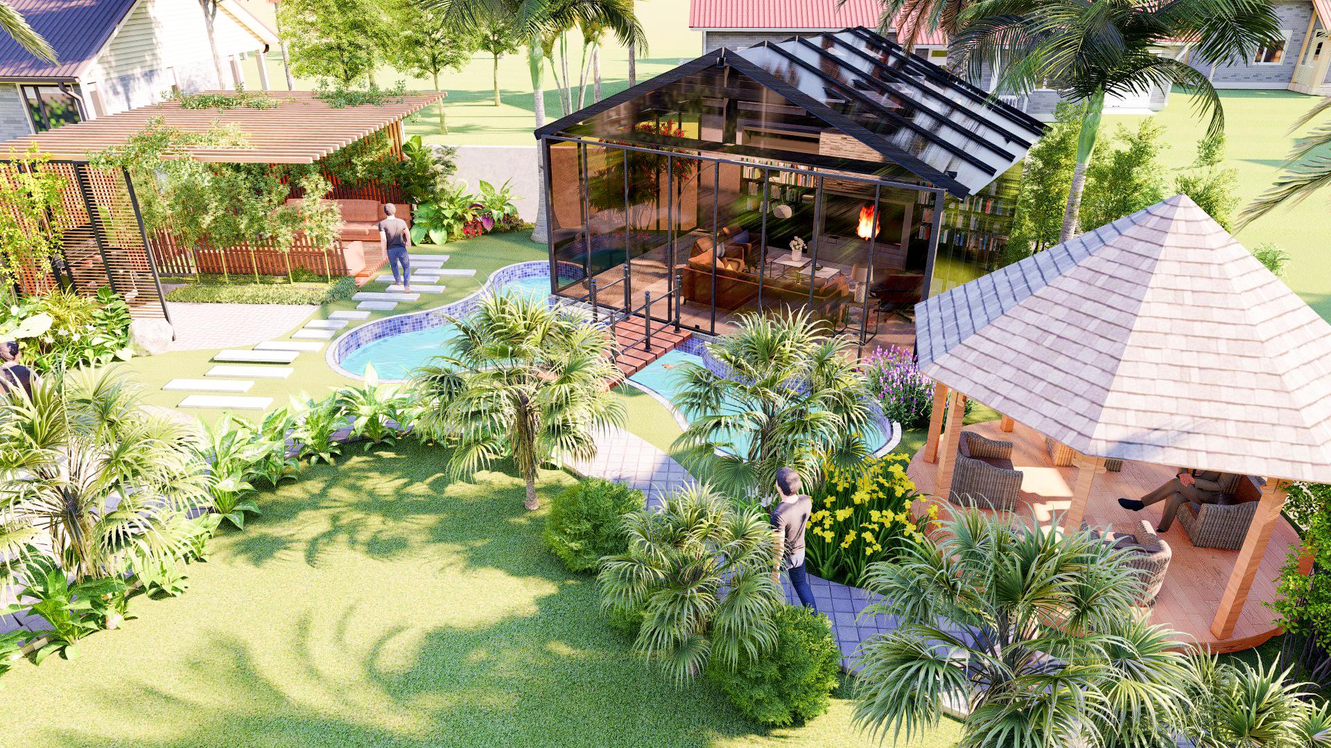 create architecture 2d,  3d site plan and landscape design