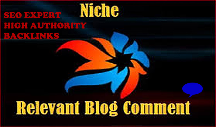 I will do 50 niche relevant backlinks blog comments