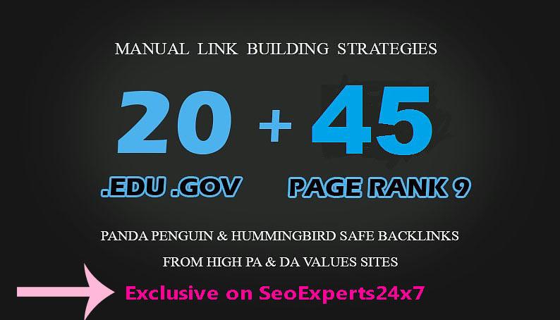 I will do google ranking with 45 edu gov safe SEO backlink