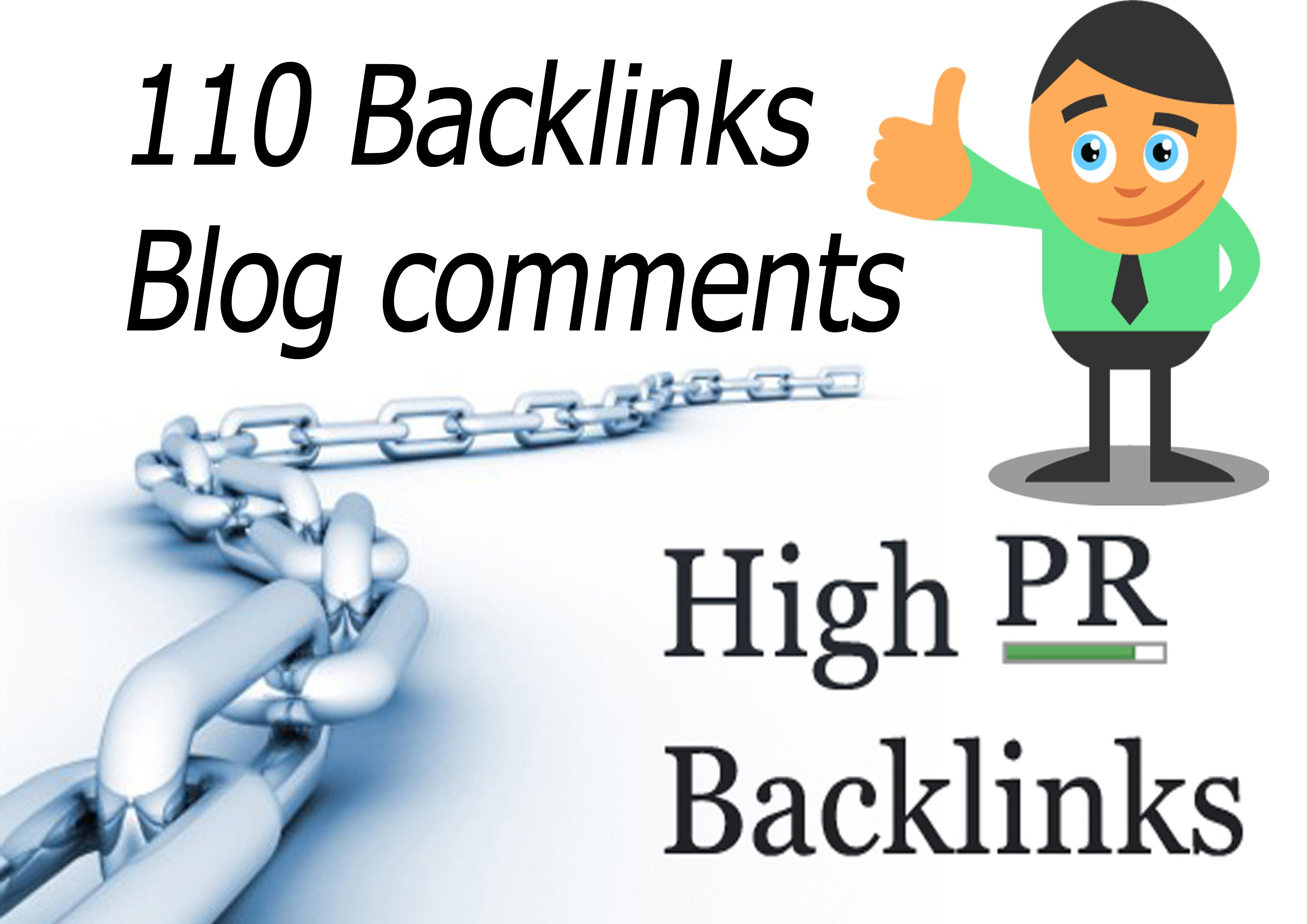 create 110 dofollow backlinks with 40+DA