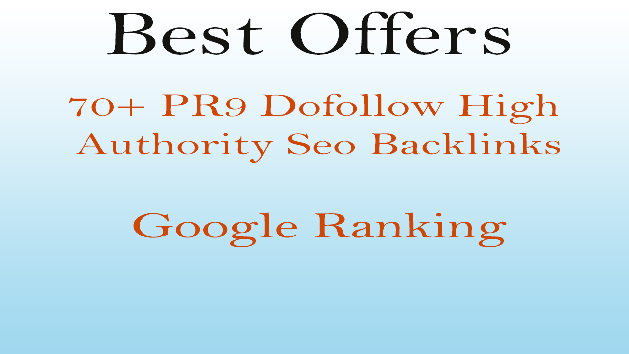 I will increase your google ranking with high authority pr9 dofollow seo backlinks
