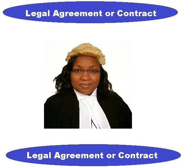 write your contract or legal agreement