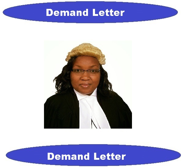 Legal demand letter written by attorney/lawyer