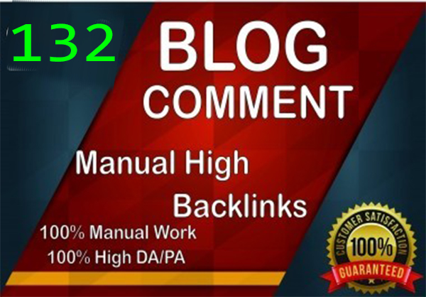 132 Manually Blog Comment Backlinks dofollow BUy 1 get 1 free