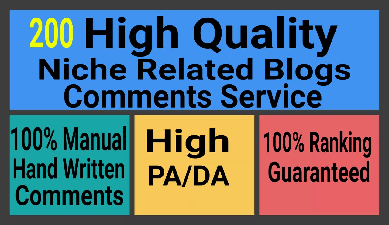 I WILL 200 High Quality Niche Related nofollow blogcometns services