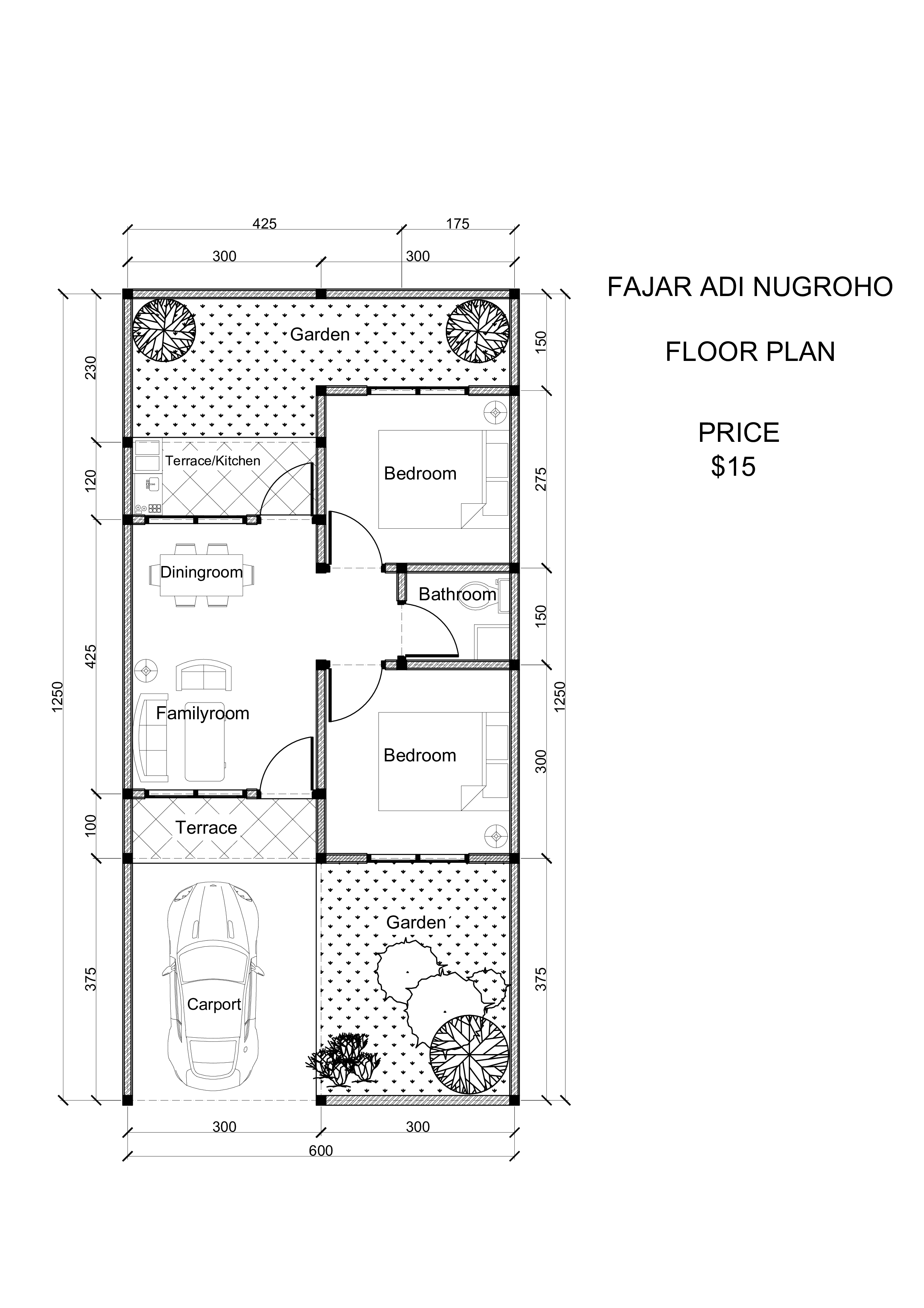 I will redraw the floor plan using autocad