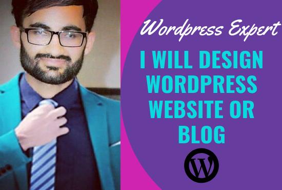 Design wordpress website or blog and secure it