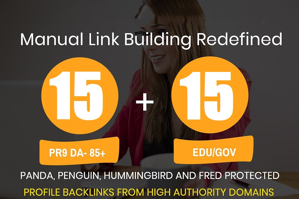 Get 15 DA80+ Profile backlink and 15 EDU/GOV Profile backlink